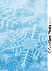 Snowflakes - Winter background with snowflakes