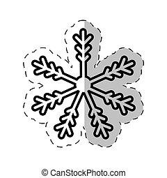 snowflakes winter cut line vector illustraiton eps 10