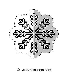 snowflakes winter decoration cut line vector illustraiton...