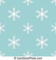 Snowflakes winter pattern
