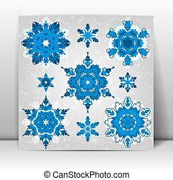 Snowflakes winter set for your design. Vector, EPS10.