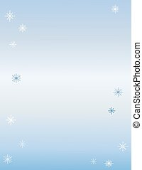 Snowflakes with Background