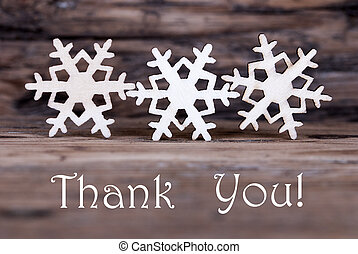 Snowflakes with Thank You