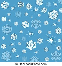 snowflakes, wrapping paper, Christmas, vector illustration