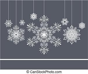 snowflakes xmas background