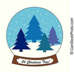 snowglobe, δέντρο , xριστούγεννα , ω