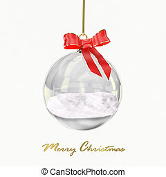Snowglobe - Computer generated image of a christmas glass...