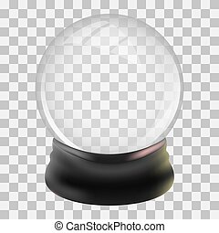 Snowglobe design template. Christmas snow globe. Vector...