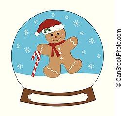 Snowglobe Gingerbread Man