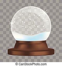 Snowglobe icon, realistic style - Snowglobe icon. Realistic...