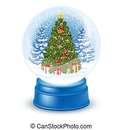 Snowglobe with christmas tree