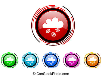 snowing icon set