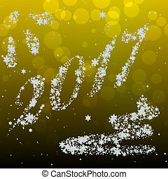 Snowing New Year 2017 generated hires texture