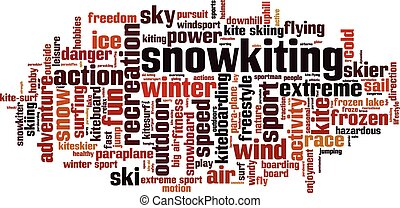 Snowkiting word cloud