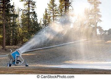 snowmaker - A small tubing resort makes snow in the earely...