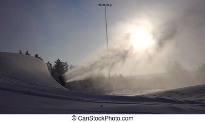 Snowmaking is the production of snow