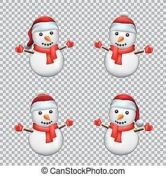 snowman 帽子, santa