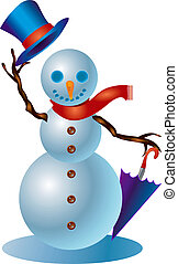 Snowman #1 - A clipping path is included in the JPG document...