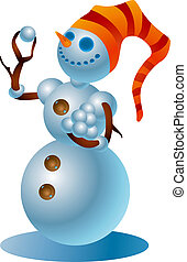 Snowman #2 - A clipping path is included in the JPG document...