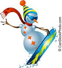 Snowman #3 - A clipping path is included in the JPG document...