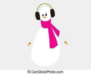 snowman, 3, posar