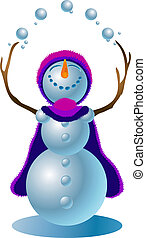 Snowman #4 - A clipping path is included in the JPG document...