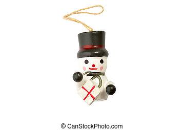 Snowman - A christmas, isolated snowman
