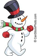 snowman, ambulante