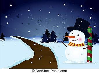snowman and christmas