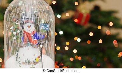 Snowman and snowflakes. Let it snow. Snow flakes