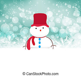 snowman background with snowflakes