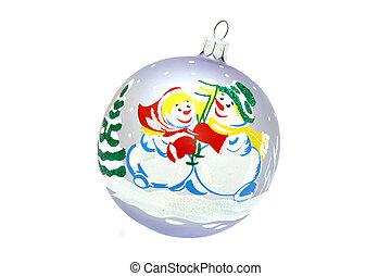 Snowman ball christmas tree toy