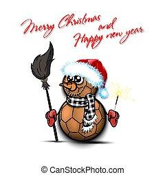 snowman, balonmano, sparklers, pelotas
