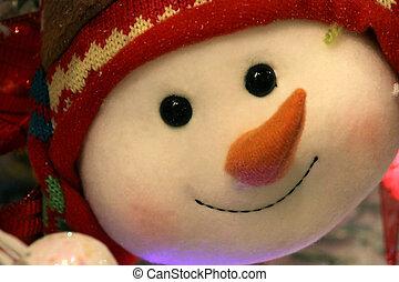 snowman bauble, twarz