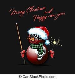 snowman, billiard, sparklers, pelotas, señal