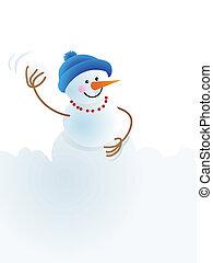 snowman, bola de nieve, navidad