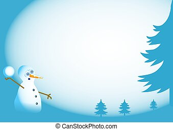 Snowman Border - Snowman background border design. Useful...