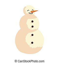 snowman character cartoon, icon isolated image