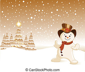 Snowman Christmas background