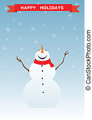 Snowman christmas background.