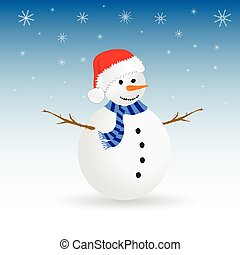 snowman color vector illustration