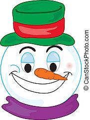 Snowman Face - Smiley type snowman face
