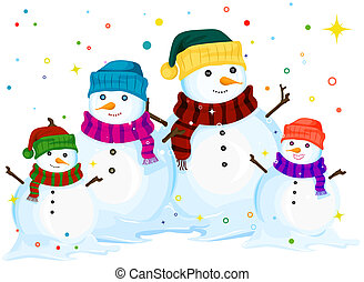 snowman family illustrations and clipart 1 483 snowman family rh canstockphoto com Snowman Baby Clip Art Snowman Head Clip Art