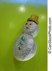 snowman glittering