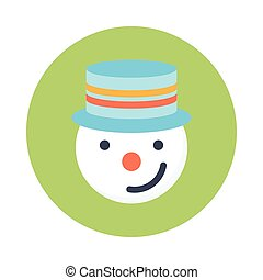 snowman glyphs color circle icon