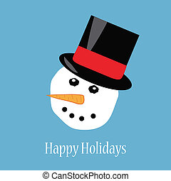 Happy holidays snowman greeting card