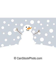Snowman - Happy Christmas snowman vector illustration