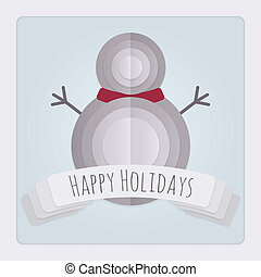 Snowman Holidays Card