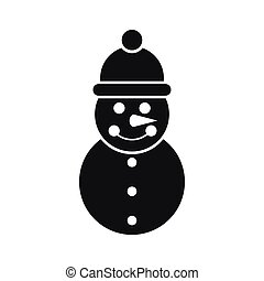 Snowman icon, simple style