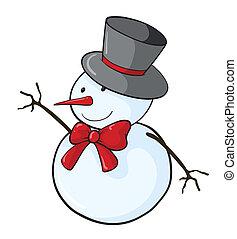 Snowman - Illustration of a simple snowman